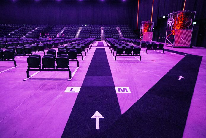 Theaterzaal in coronatijd.