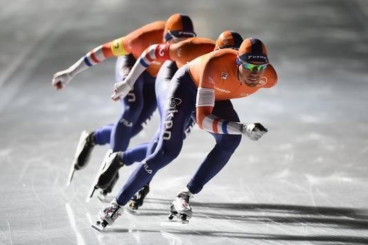 Patrick Roest leidt het Oranje-trio in Tomakomai.