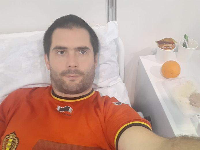 Arnaud Bonmariage zit vast in Sint-Petersburg na wedstrijd Rode Duivels daar omdat hij steeds weer positief test op corona