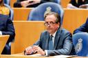 Alexander Pechtold (D66) tijdens een debat in de Tweede Kamer over de omstreden uitspraken van Minister Stef Blok (Buitenlandse Zaken) over de multiculturele samenleving en Suriname.