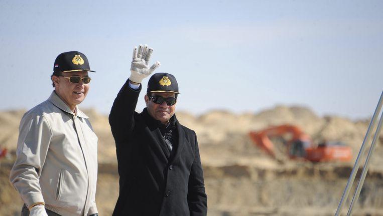 De Egyptische president Adbed Fattah al-Sisi (R). Beeld reuters