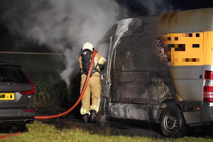 Brandweer aan het werk.