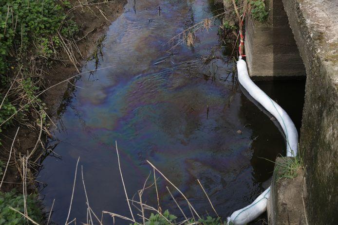 Vervuiling in de Oost-Vlaamse Barbierbeek.
