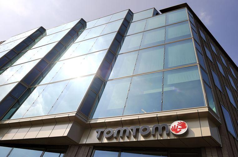 Exterieur van het hoofdkantoor van TomTom in Amsterdam. Beeld ANP XTRA