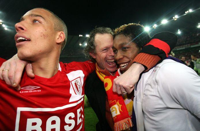 Met Axel Witsel en Dieumerci Mbokani tijdens de titel van 2008.