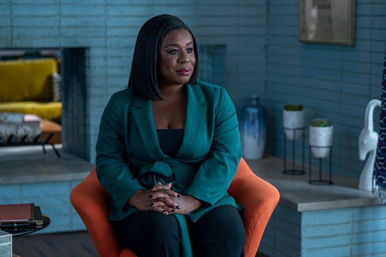 Uzo Aduba neemt het zitje van de therapeut over van Gabriel Byrne in het nieuwe seizoen van 'In Treatment'. Beeld HBO