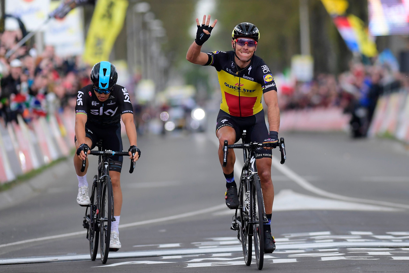 Gilbert won in 2017 de Amstel Gold Race