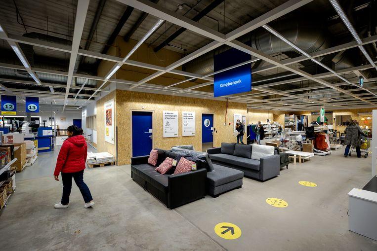 De koopjeshoek van het IKEA-filiaal in Amersfoort. Beeld Hollandse Hoogte /  ANP