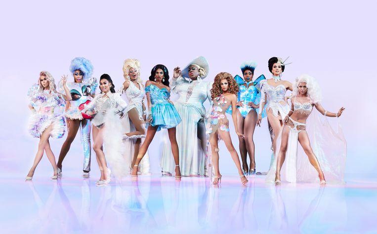 De kandidaten van RuPaul's Drag Race - All Stars, een titanenstrijd tussen publieksfavorieten. Beeld VH1