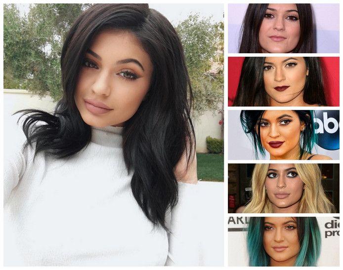 Kylie Jenner door de jaren heen.