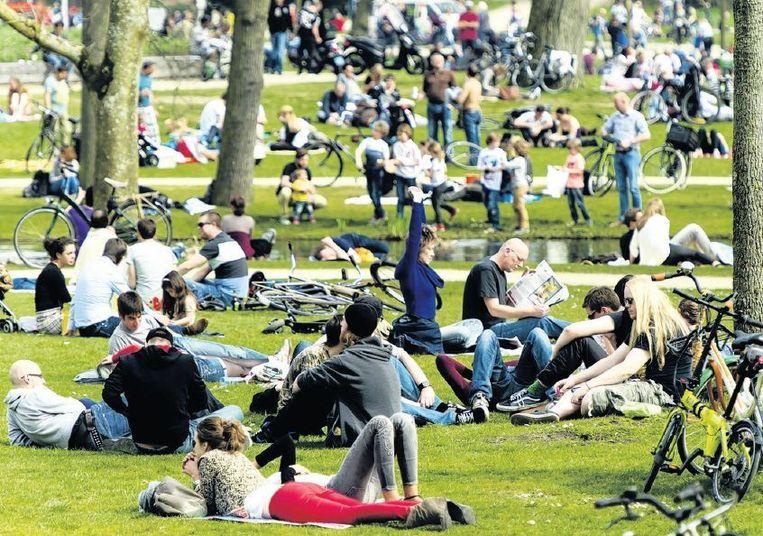 Het Vondelpark in Amsterdam. Beeld anp