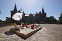 Bij het kasteel in Helmond is het ook buiten fijn voor de kleintjes.