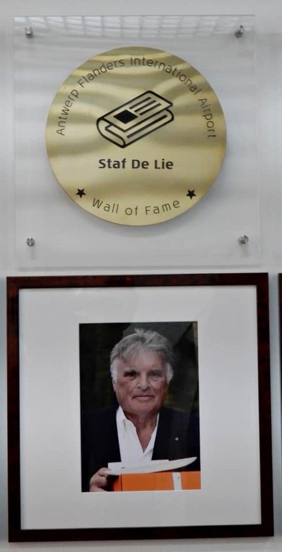 Staf De Lie met foto op de Wall of Fame
