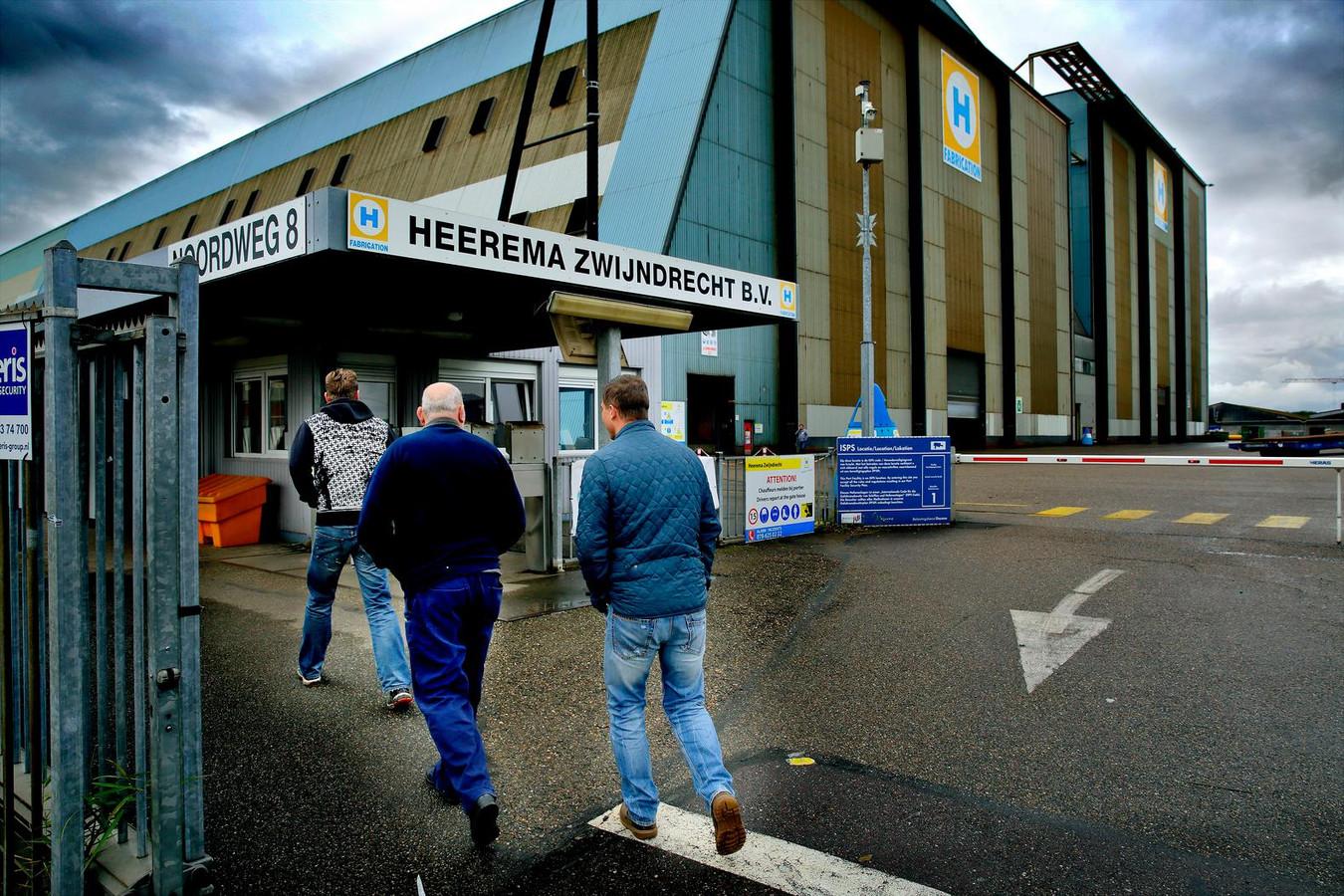 De sfeer is bedrukte bij Heerema in Zwijndrecht.