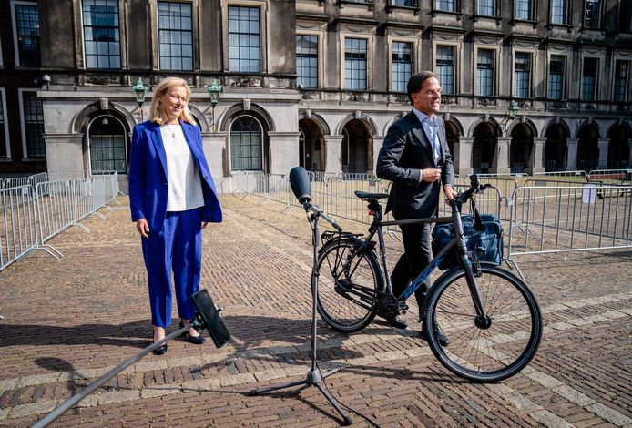 'Extreemtoffe peer' Mark Rutte en  'extreemdeftige' D66-dame Sigrid Kaag.