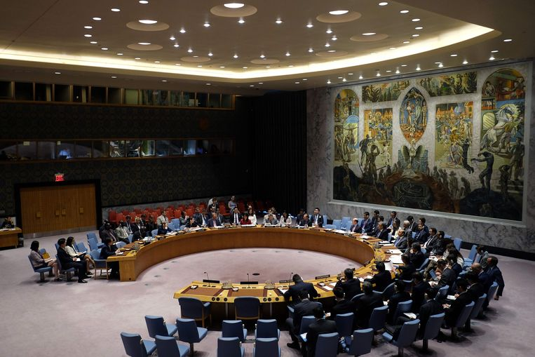 De VN-veiligheidsraad vergadert over Noord-Korea.missile. Beeld AFP