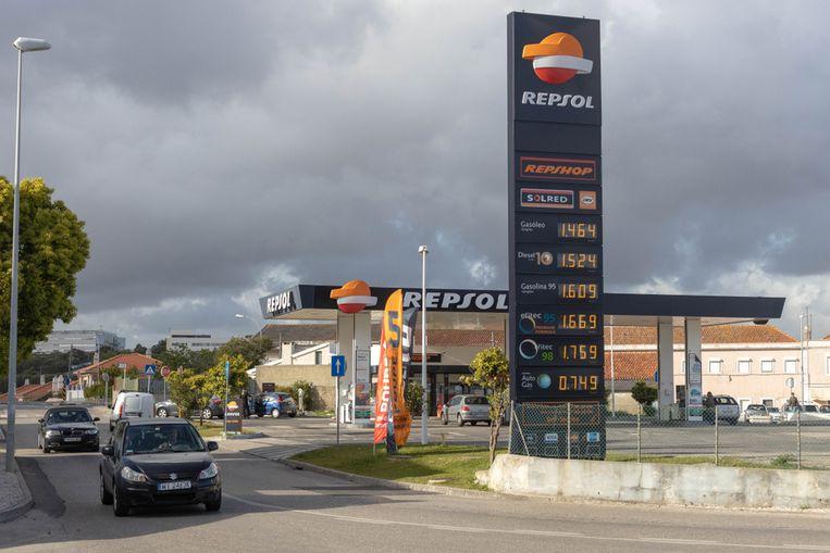 Tankstation in Lissabon. (Illustratiefoto)