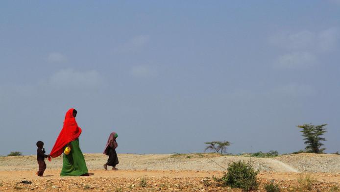 Archieffoto uit 2011 van Somalische vluchtelingen in Ethiopië. In dat jaar kwamen 250.000 mensen door honger om het leven. Hulporganisaties zijn bang dat de situatie zich herhaalt.