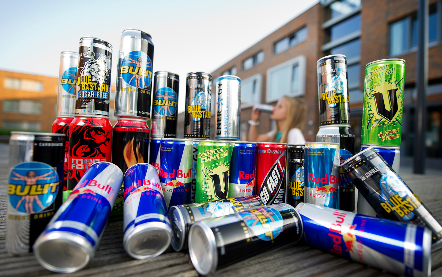 Energydrinks. Red Bull, Blue Bastard, Bullit, Energy, Go Fast.