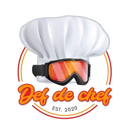 Logo van Def de Chef, het nieuwe restaurant van rapper Def Rhymz in Arnhem.