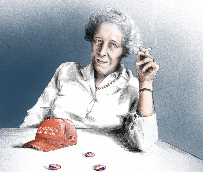 Alicja Gescinska over Hannah Arendt: 'Zij zou vandaag veel problemen hebben met de kampen buiten Europa waar wij vluchtelingen opvangen' Beeld Penelope Deltour