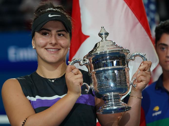 Bianca Andreescu na het winnen van de US Open.