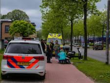 Maaltijdbezorger en bestelbusje klappen op elkaar in Amersfoort