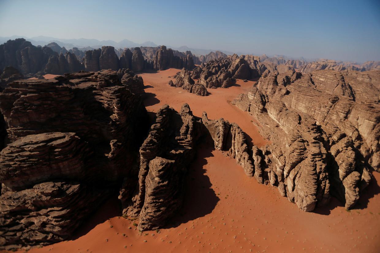 De nieuwe Saoedische stad Neom staat gepland in een onherbergzame streek in het noordwesten van het Arabisch schiereiland. Beeld Reuters