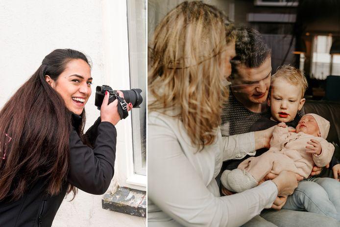 Raamfotografie voor baby's: een newbornshoot op veilige afstand