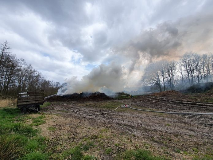 Zondagnamiddag moest de brandweer nog uitrukken voor een brand vlakbij De Liereman