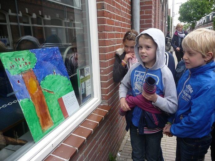 Stijn vertelt over zijn schilderij