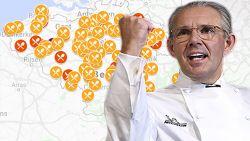 IN KAART. Peter Goossens blijft enige met drie Michelin-sterren, dit zijn alle sterrenrestaurants in jouw buurt