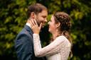 Davy en Hanne op hun huwelijksdag