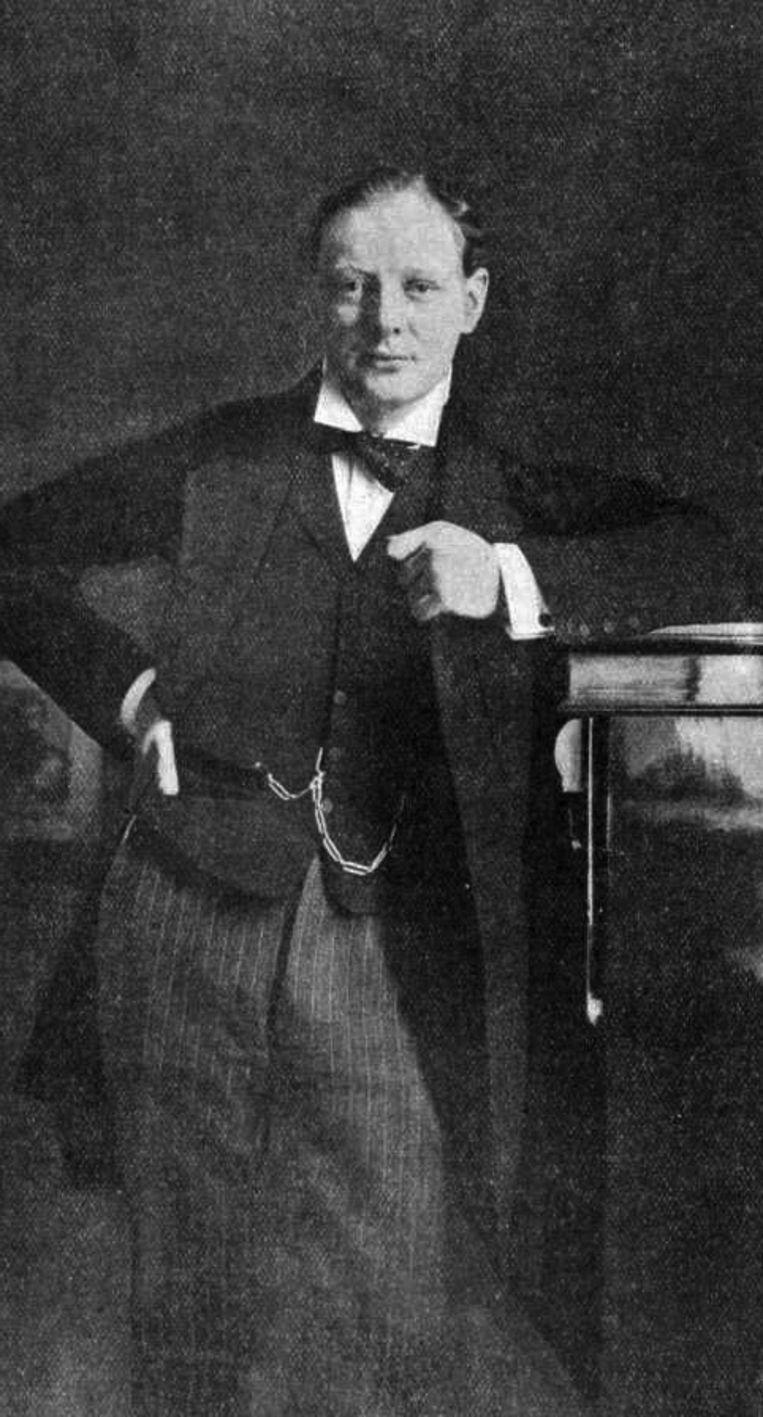 Een jonge Winston Churchill. Begin vorige eeuw was hij gefascineerd door de islam. Beeld E. H. Mills