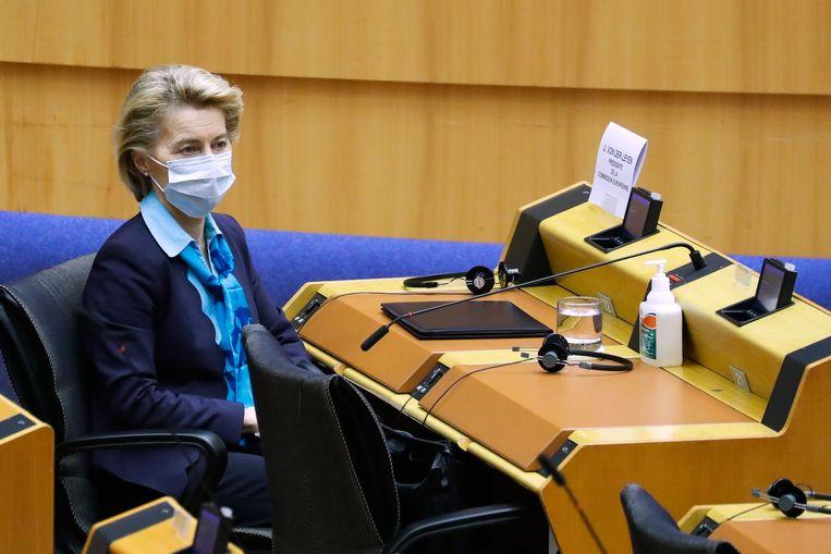 Volgens EU-Commissievoorzitter Ursula von der Leyen wordt het laatste woord over EU-wetgeving altijd gesproken in Luxemburg. Beeld AFP