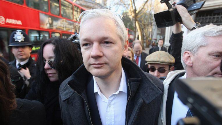 WikiLeaks-oprichter Julian Assange. Beeld getty