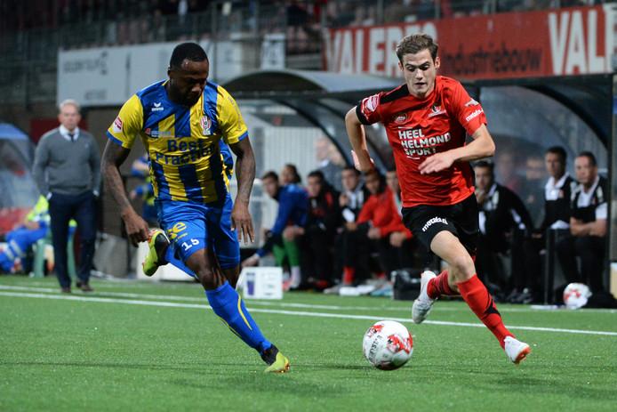 21-09-2019: Voetbal: Helmond Sport v TOP Oss: Helmond Lorenzo Pique of TOP Oss, Sander Vereijken (Helmond Sport) Keuken Kampioen Divisie 2019/2020