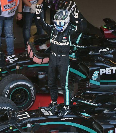 Verstappen knap tweede in Rusland, negende GP-zege voor Bottas