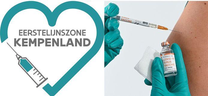 Het logo van eerstelijnszone Kempenland moet een gemeenschappelijke vaccinatiecampagne herkenbaar maken.