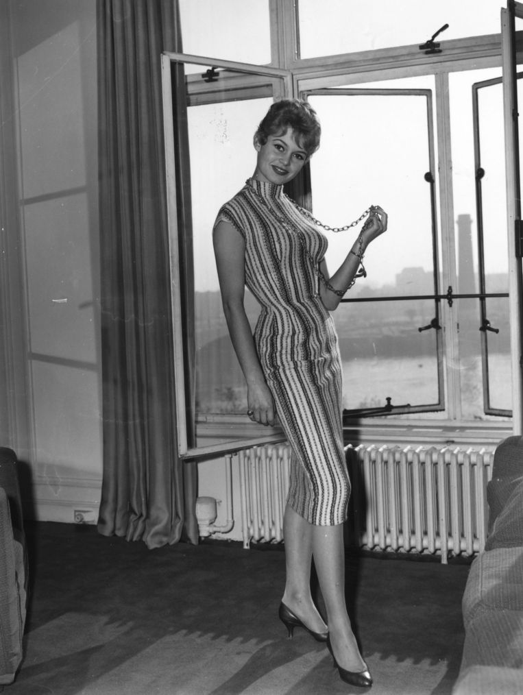 Brigitte Bardot in 1956 in Londen Beeld Getty Images