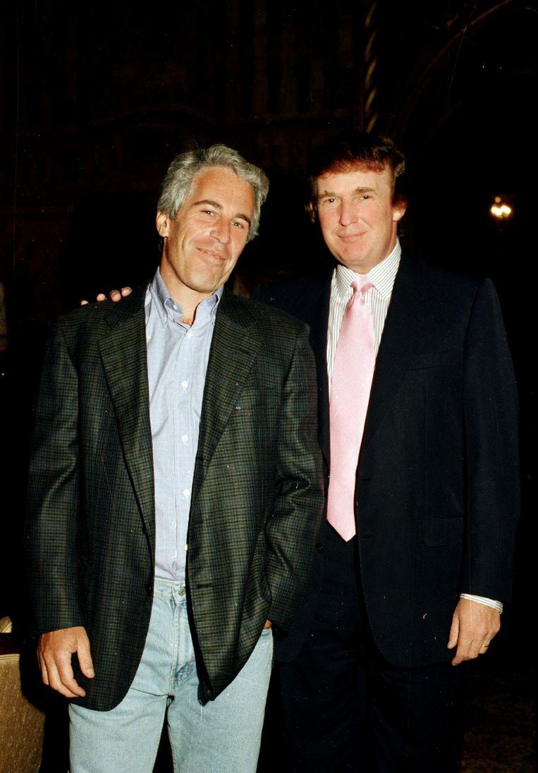 Jeffrey Epstein met Donald Trump in 1997. Beeld Getty Images