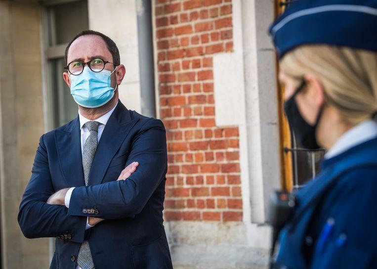 Minister van Justitie Vincent Van Quickenborne (Open Vld).  Beeld Joel Hoylaerts / Photo News