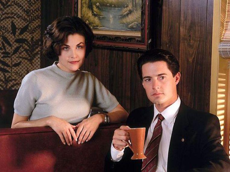 Twin Peaks 1990 - Sherilyn Fenn - Audrey - Dale Cooper - Kyle MacLachlan Beeld RV