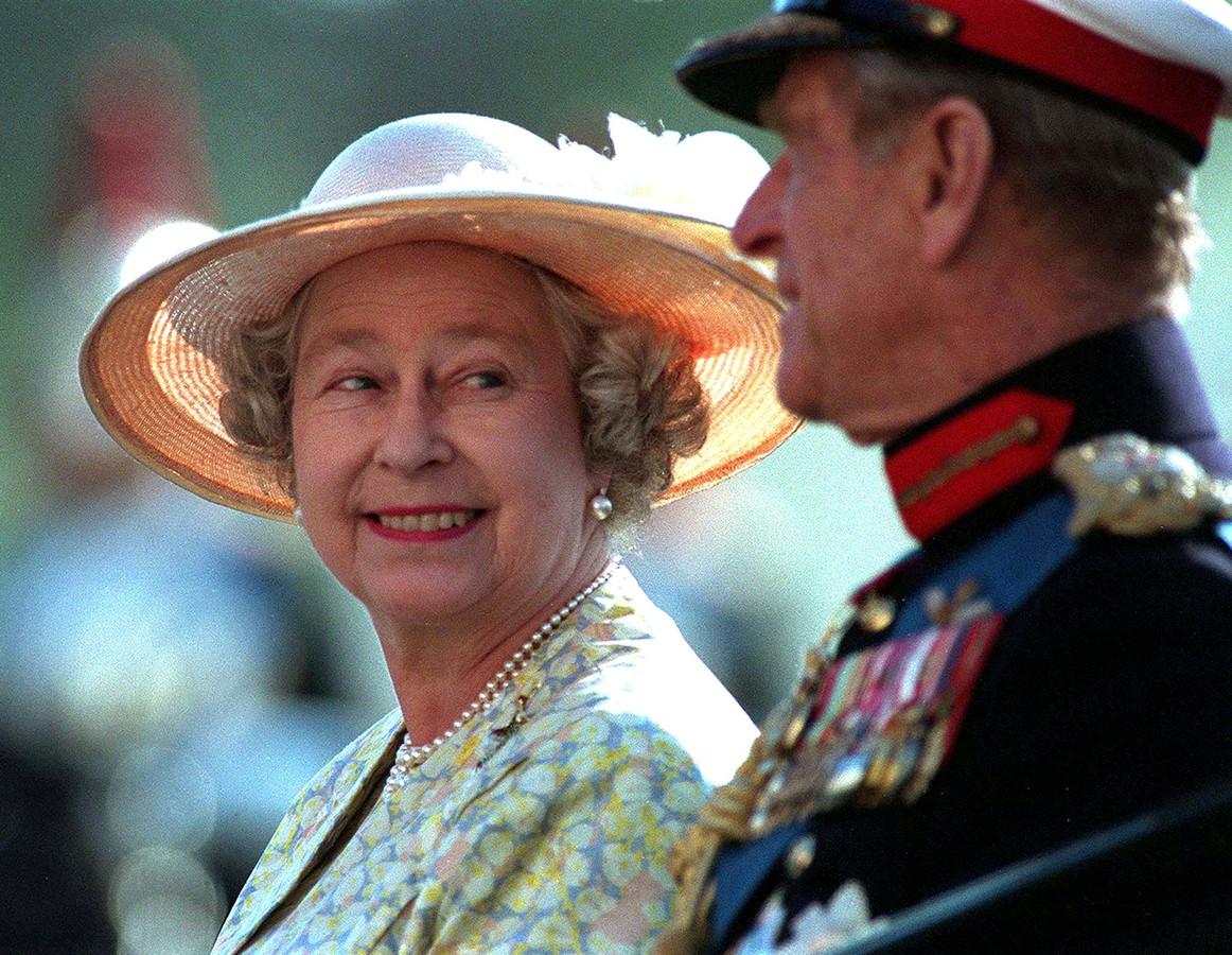 Elizabeth II en prins Philip in 1996.