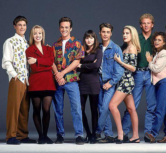 Brian (David), Jennie (Kelly), Luke (Dylan), Shannen (Brenda), Jason (Brandon), Tori (Donna), Ian (Steve) en Gabriëlle (Andrea).