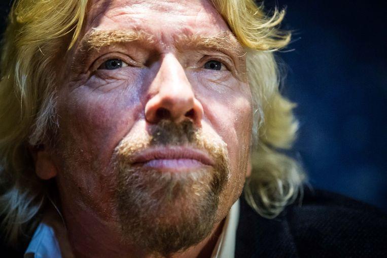 Richard Branson.  Beeld Bas Bogaerts