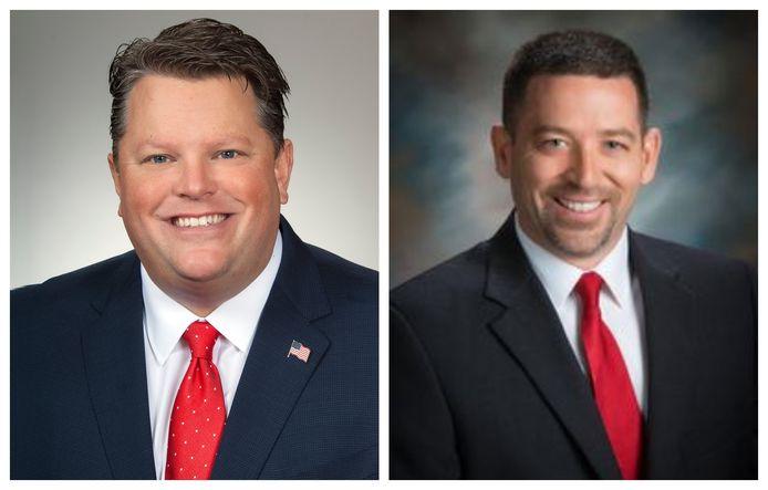 Het wetsvoorstel is een initiatief van Republikeinen Jon Cross (links) en Reggie Stolzfus. Zij zetelen in het deelstaatparlement van Ohio.