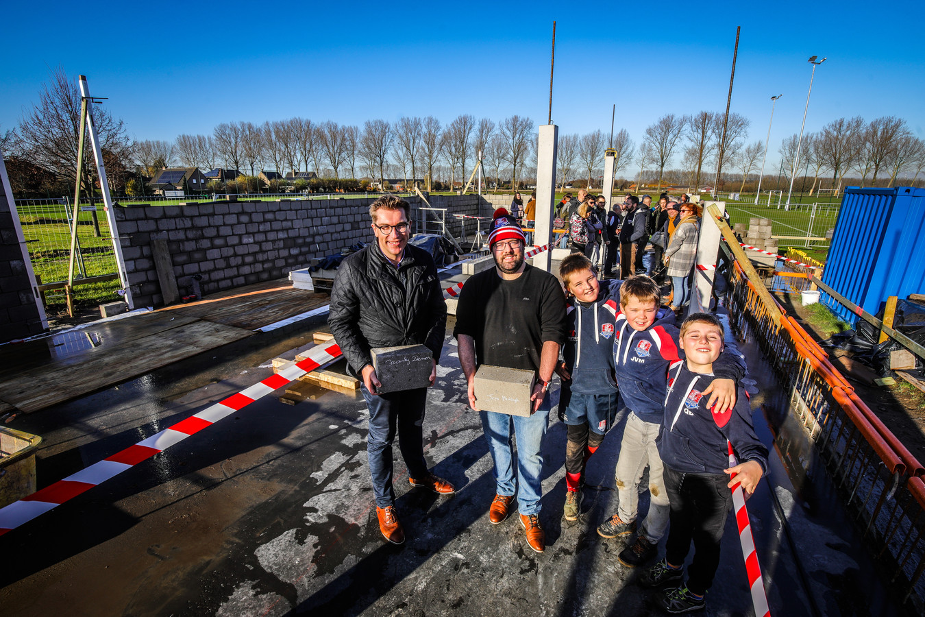 Brugge eerste steenlegging rugbylokaal