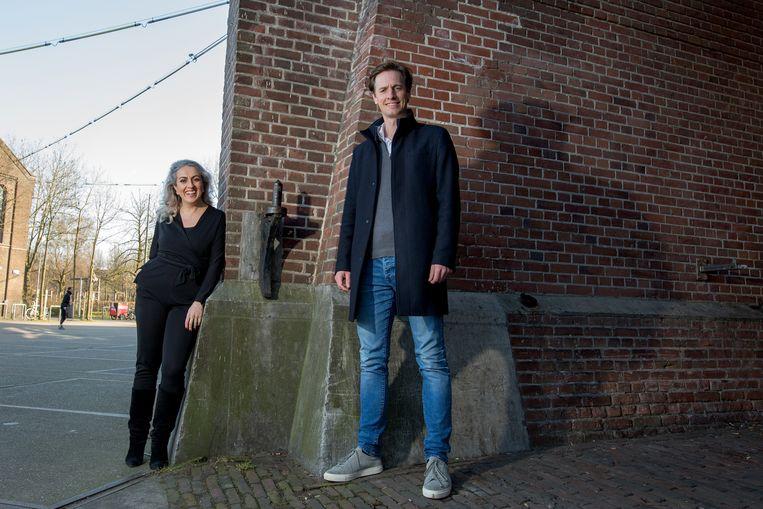De nummers 1 en 2 van Volt, Laurens Dassen & Nilüfer Gündogan.  Beeld Maartje Geels