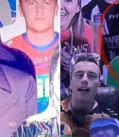 Ophef in Australië: kartonnen figuur seriemoordenaar bij rugbywedstrijd, zender 'grapt' met Hitler